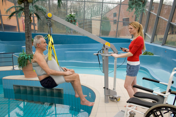Pool hoists newcastle north east dolphin lifts and mobility for Hydraulic chair lift for swimming pool